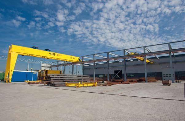 Bedrijfshal Bemo Rail in aanbouw